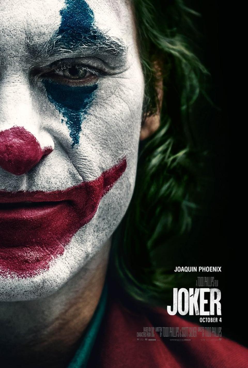 Joker potrebbe sfiorare il miliardo d'incassi in tutto il