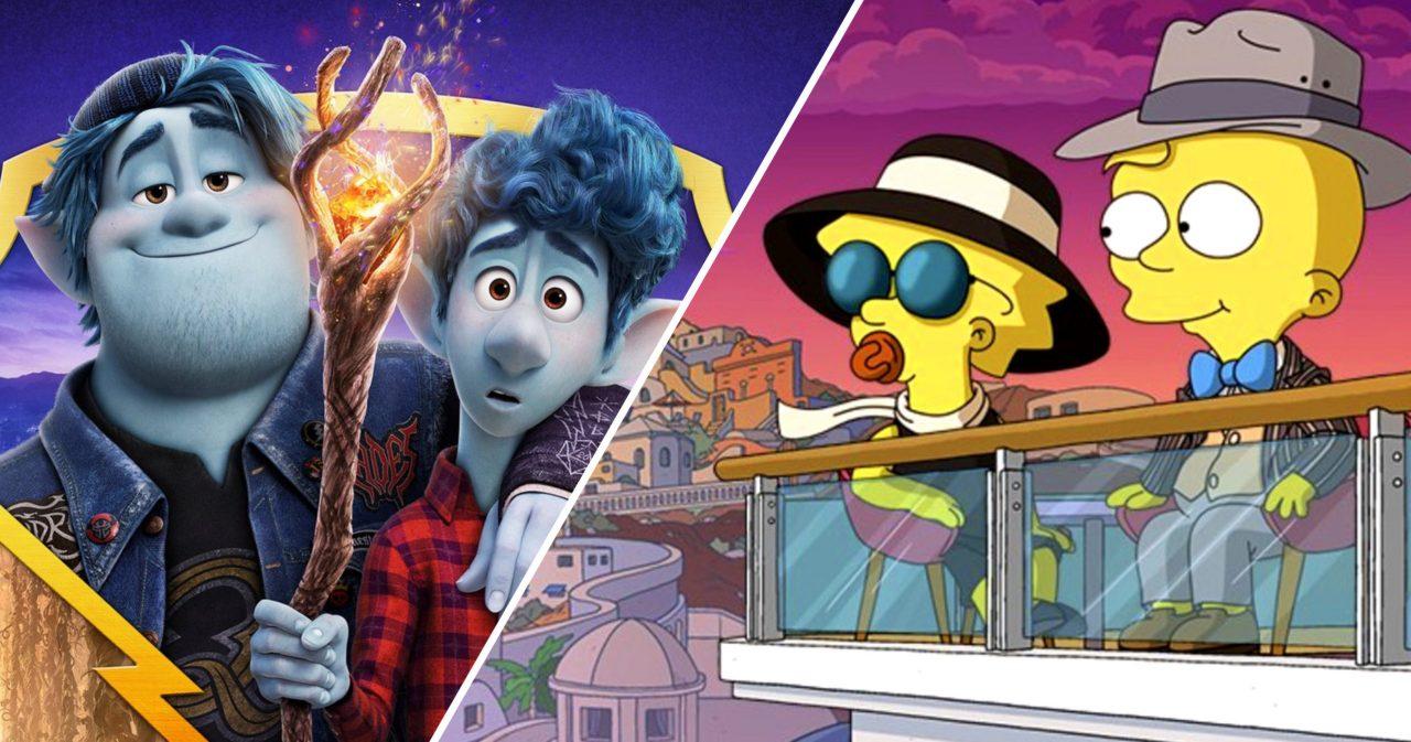 Onward: la proiezione del film al cinema sarà preceduta da un cortometraggio dei Simpson